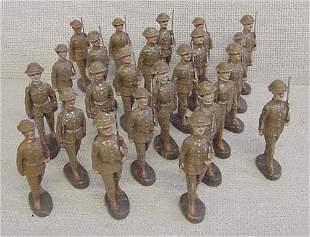 Lot of 24 Elastolin Troop Soldiers