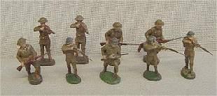 9 Assorted Elastolin Riflemen Soldiers