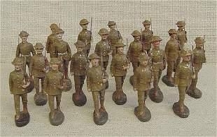 Lot of 20 Elastolin Troop Soldiers