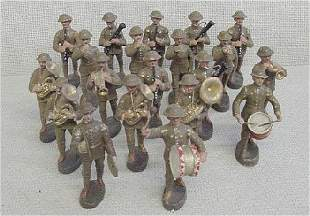 Lot of 20 Elastolin Band Soldiers
