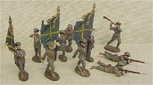 Lot of 12 Elastolin Foreign Soldiers