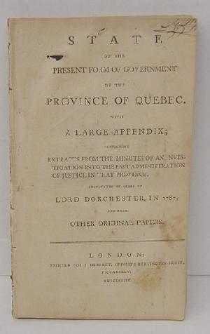 Present Form of Gov't Quebec J Monk