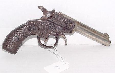 """1002: 1900 Kenton """"Magic"""" Cast Iron Cap Gun"""