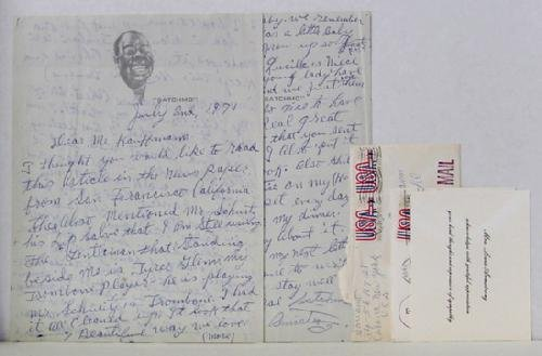 10: LOUIS ARMSTRONG. AUTOGRAPHED LETTER
