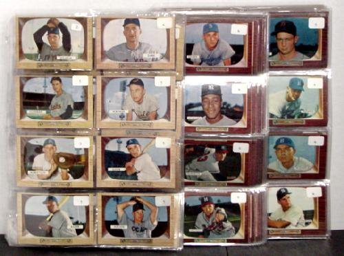 1001: 1955 BOWMAN BASEBALL CARD SET COMPLETE