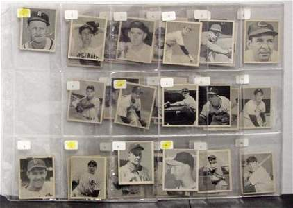 1003: 1948 BOWMAN. 39 CARDS OVERALL EX/NM CAR