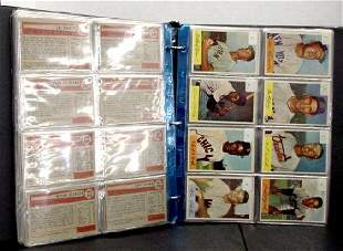 1954 BOWMAN NEAR COMPLETE SET IN HIGH G