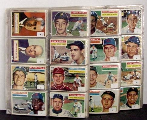 1008: 1956 TOPPS BASEBALL NEAR COMPLETE HIGH