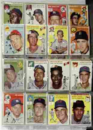 1954 TOPPS MISSING CARDS