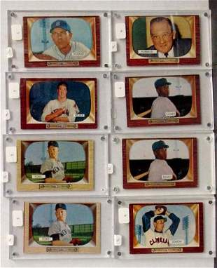 LOT OF 1955 BOWMAN STARS. 8 CARDS