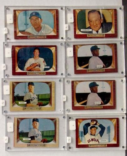 1012: LOT OF 1955 BOWMAN STARS. 8 CARDS