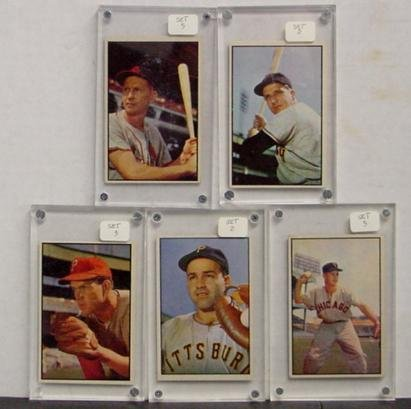 1013: LOT OF 1953 BOWMAN STARS.