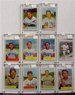 LOT OF 1954 BOWMAN STARS. 10 CARDS
