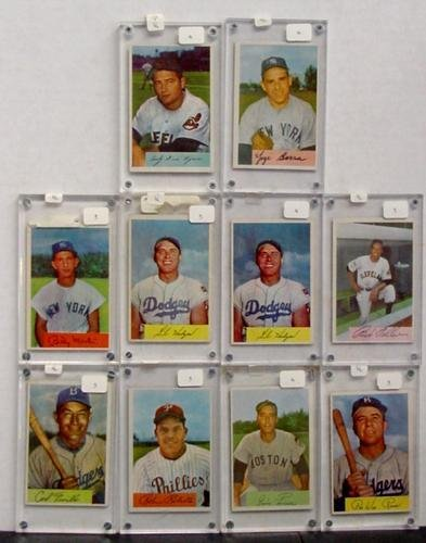 1014: LOT OF 1954 BOWMAN STARS. 10 CARDS