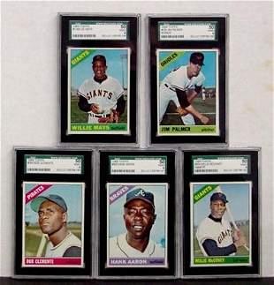 1966 TOPPS 5 GRADED STAR CARDS