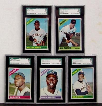 1019: 1966 TOPPS 5 GRADED STAR CARDS