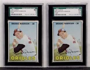 1967 TOPPS #600 BROOKS ROBINSON. 2 CARD