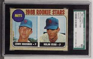 1968 TOPPS RYAN ROOKIE SGC 60 EX 5