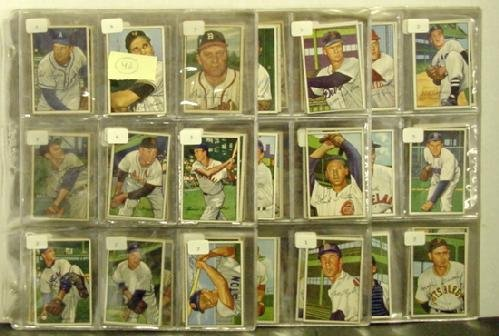 1040: 1952 BOWMAN. 185 HIGHER GRADE CARDS.