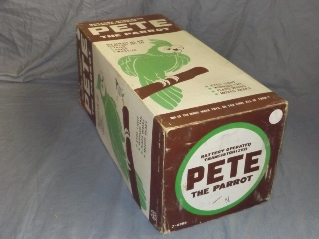 Boxed Marx Battery Operated Pete the Parrot Toy - 6