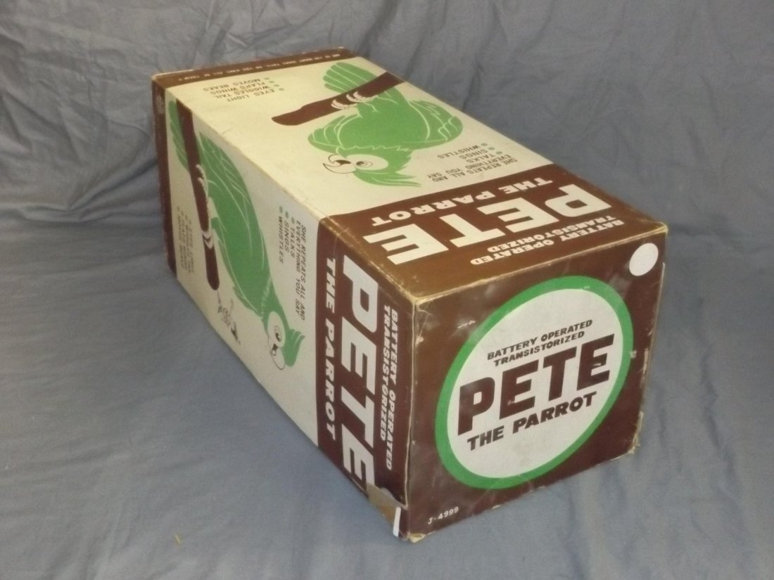 Boxed Marx Battery Operated Pete the Parrot Toy - 7
