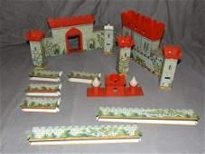 Tin Litho Marx Playset Castle
