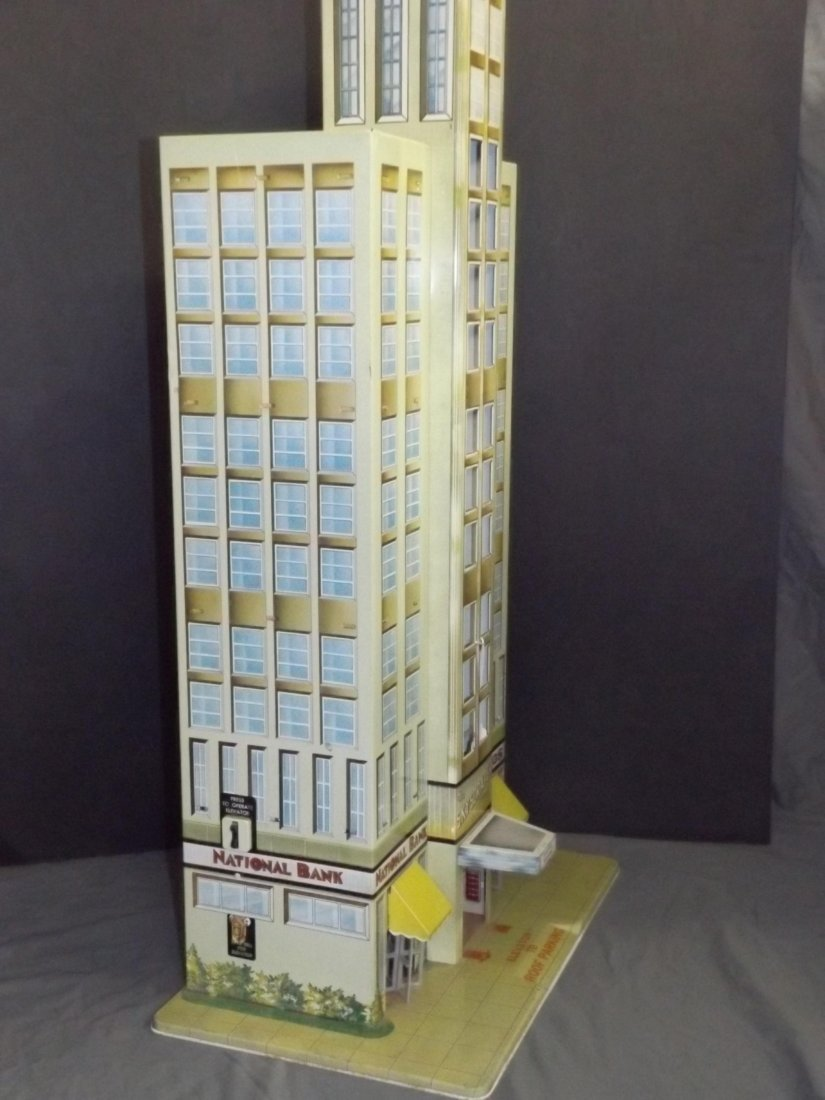 Tin Litho Marx Skyscraper Building with Elevator - 2