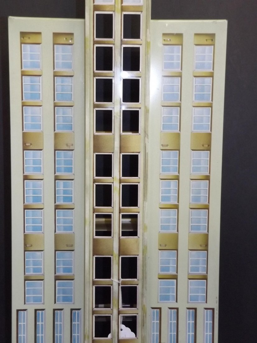 Tin Litho Marx Skyscraper Building with Elevator - 5