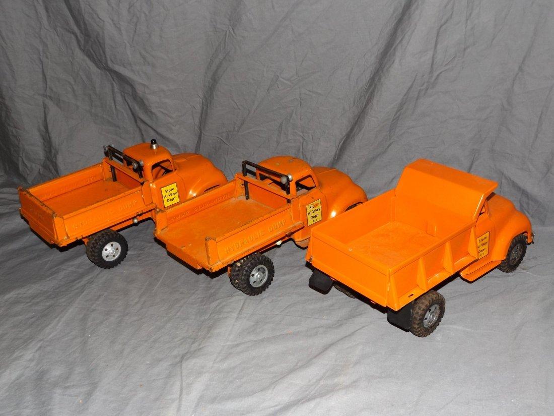 Tonka State Hi-Way Dept Trucks, Plows, Signs, - 3