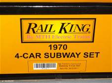 MTH Rail King 3021221 NY Transit Subway Car Set