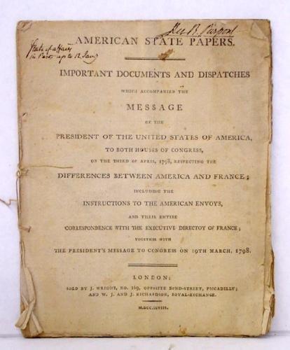 7: JOHN ADAMS - AMERICAN STATE PAPERS