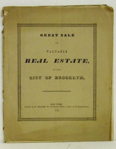 12: BROOKLYN - EPHEMERA FROM 1842