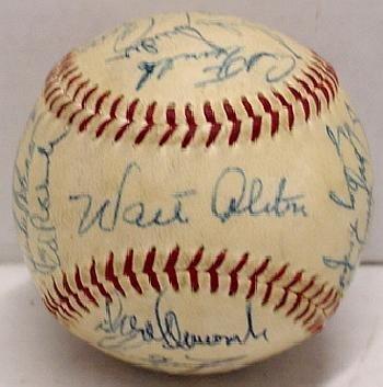 143: 1955 BROOKLYN DODGERS TEAM BALL