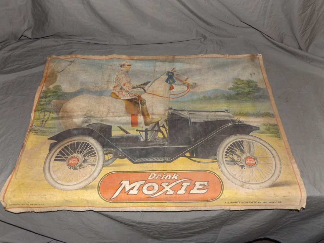 "Moxie Linen Advertising Banner 34"" x 26"""