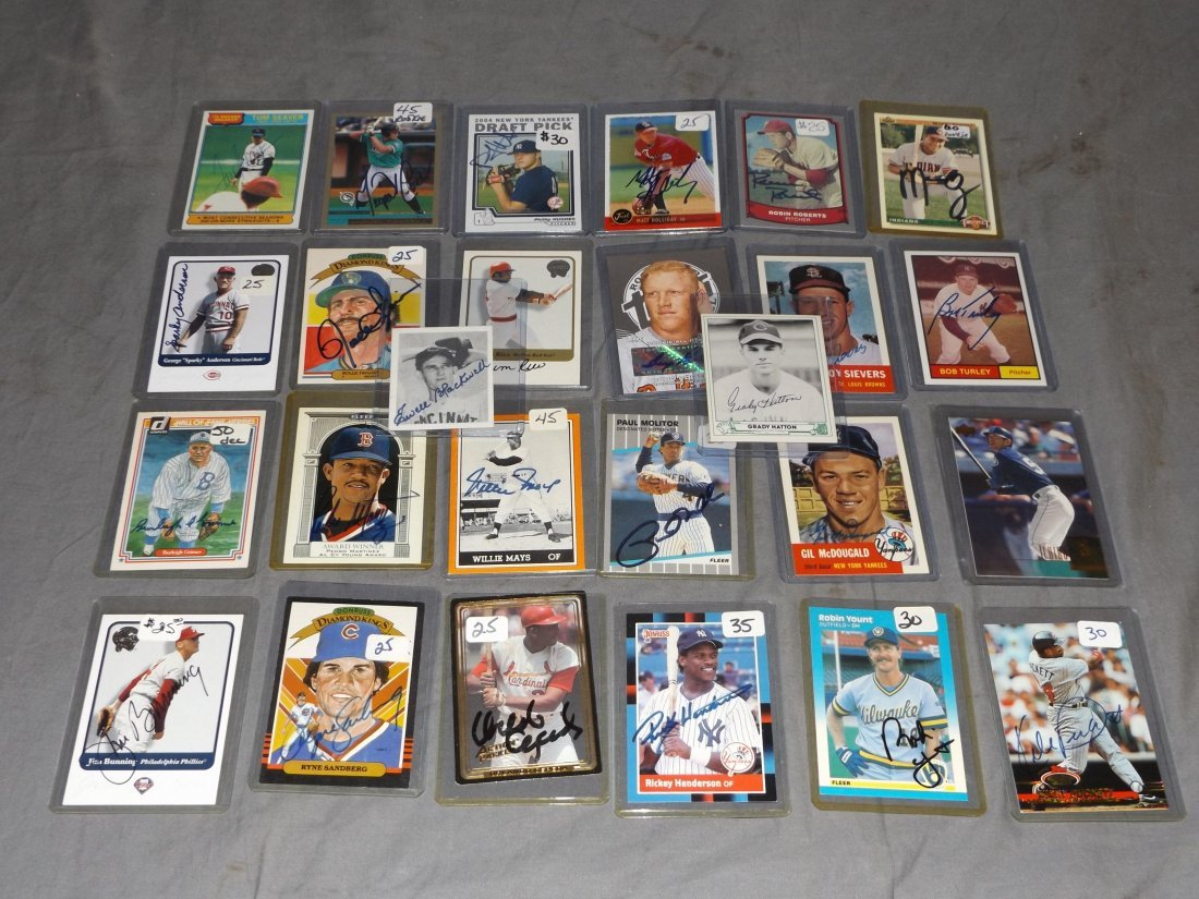 Signed Sports Card Lot.