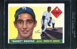 1955 Topps #123 Sandy Koufax, Rookie