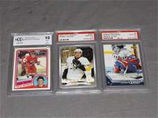 Lot of 3 Hockey Rookie Cards Graded 10