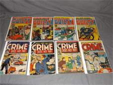 Assorted Comic Lot Crime Titles 8 Issues