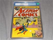 Action Comics #33 CGC Graded.