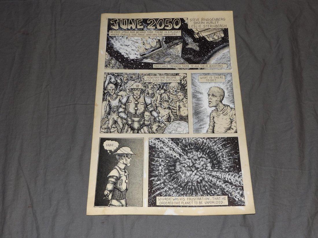 Original Heavy Metal Magazine Comic Art Page
