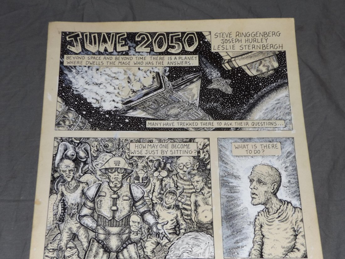 Original Heavy Metal Magazine Comic Art Page - 2