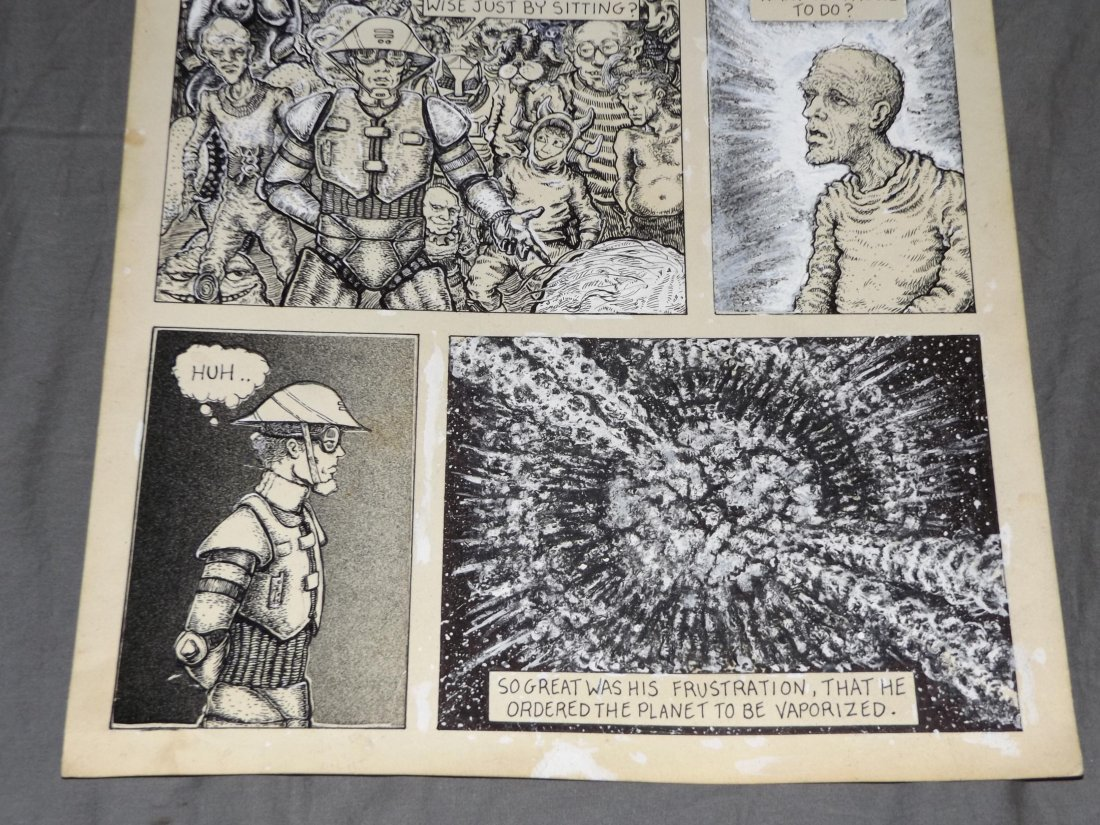 Original Heavy Metal Magazine Comic Art Page - 3
