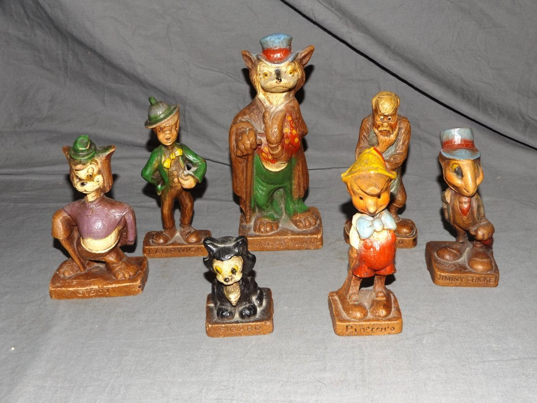 (7) 1940's Disney Syrocco Wooden Figurines