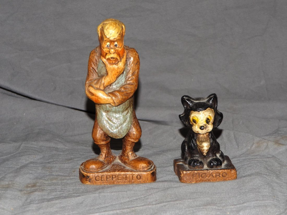 (7) 1940's Disney Syrocco Wooden Figurines - 2
