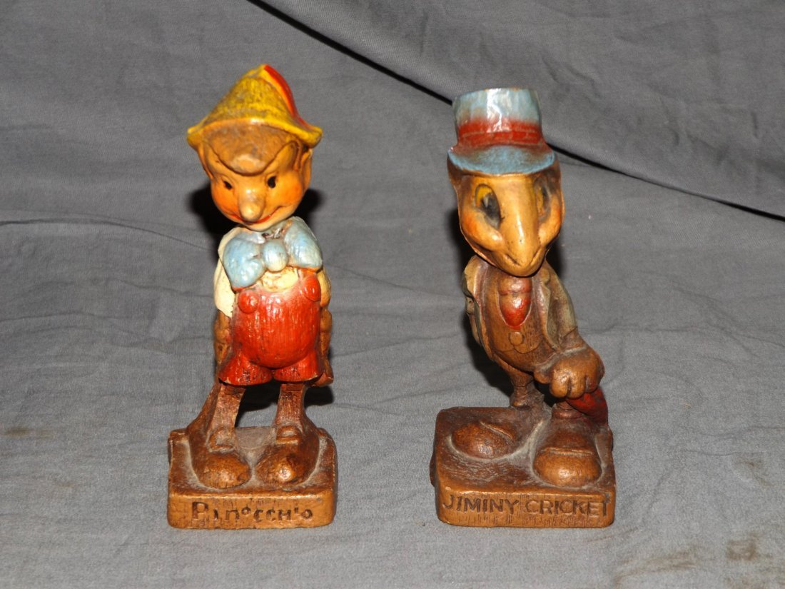 (7) 1940's Disney Syrocco Wooden Figurines - 3
