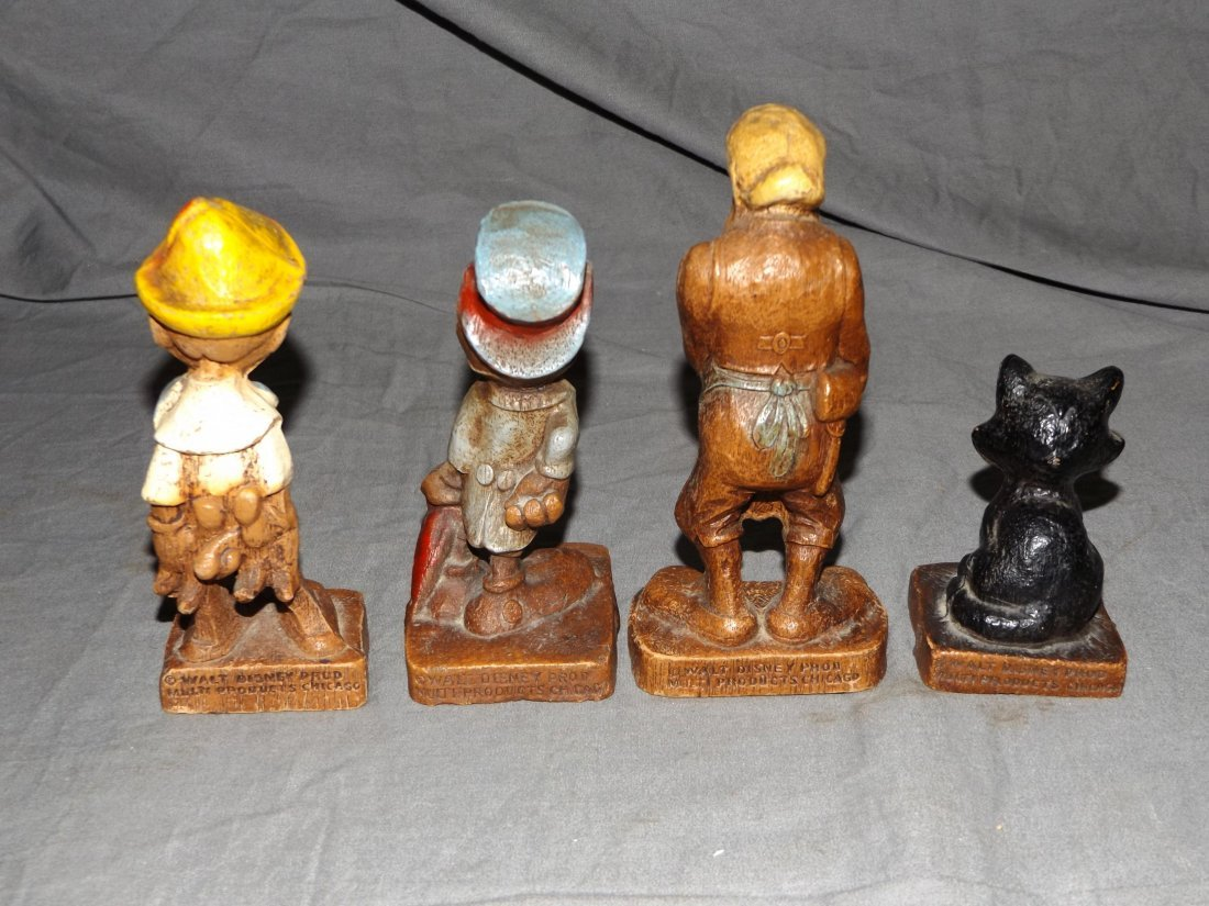(7) 1940's Disney Syrocco Wooden Figurines - 5