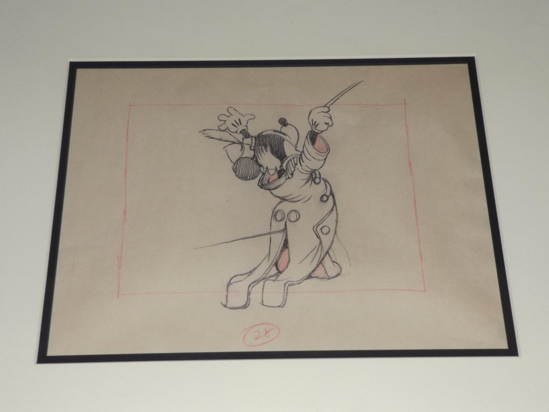 """Mickey Mouse """"Band Concert"""" Production Drawing"""