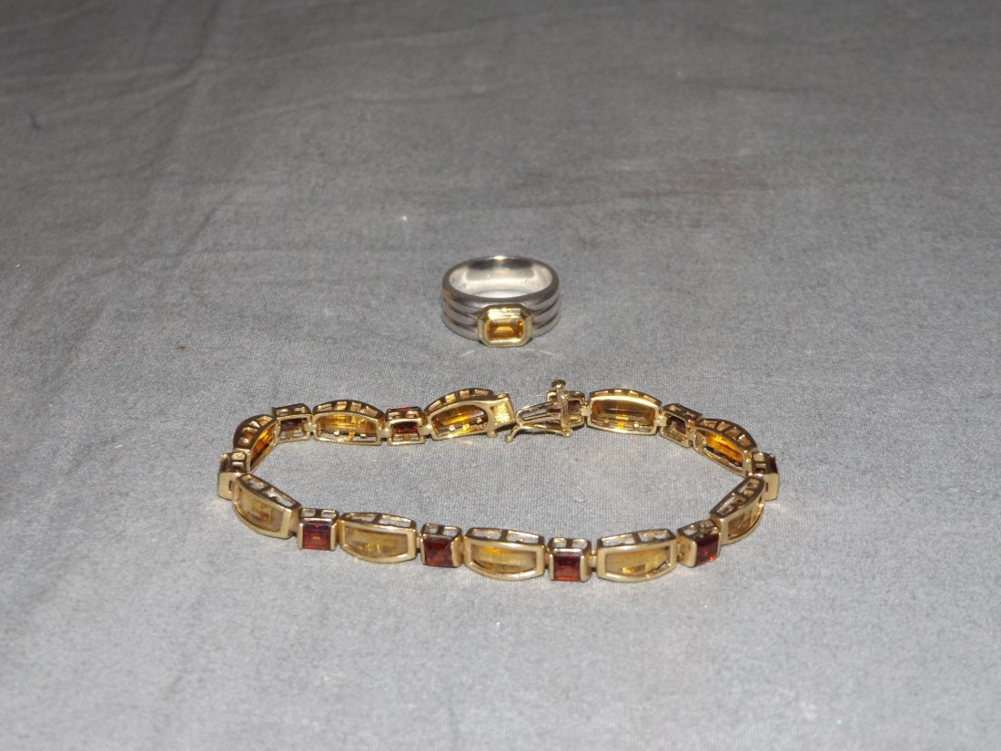David Yurman Citrine Ring & Citrine Bracelet