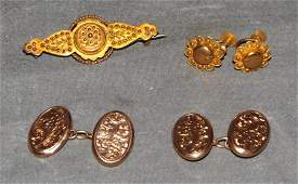 Antique Victorian Era 9 ct Gold Lot