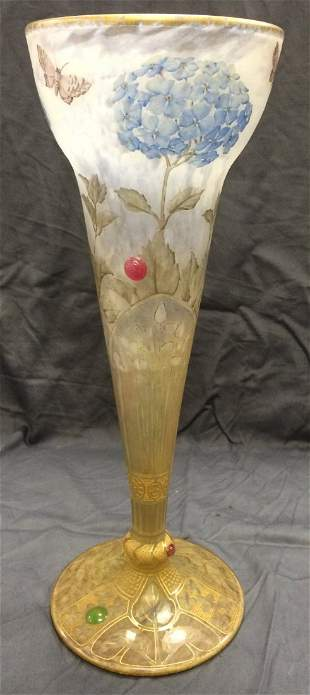 "Important Daum Nancy Vase. 15 1/2"" Tall."